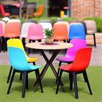 میز و صندلی طرح رنگین کمان کد38
