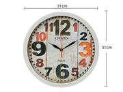ساعت دیواری سیتیزن مدل اعداد رنگی