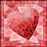 استیکر کاشی صالسو آرت مدل cubism love tile hk بسته 10 عددی