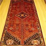 قالیچه دستبافت قشقایی/ ابعاد 130*238
