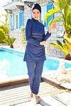 مایو اسلامی پوشیده کامل سرمه ای زنانه 15739176 Marina