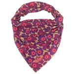 روسری زنانه سمیکا طرح زنبق کد C259