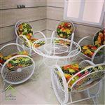 میز و صندلی مدل گلبرگ