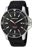 Wenger Men's 0641.102 Sea Force 3H Analog Display Swiss Quartz Black Watch