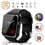 Smart Watch,Bluetooth Smartwatch Touch Screen Wrist Watch with Camera/SIM Card Slot,Waterproof Smart Watch Sports Fitness Tracker Android Phone Watch Compatible with Android Phones Huawei Samsung