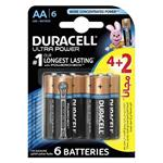 Duracell Ultra Power Duralock With Power Check AA Battery Pack Of 4 Plus 2