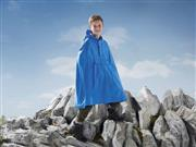 شنل کلاهدار بارونی بچگانه آبی