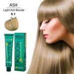 رنگ مو بدون آمونیاک بلونیا100 میل 8/1 بلوند دودی روشن