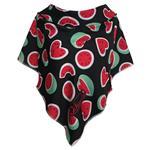 روسری زنانه سمیکا طرح هندوانه قلبی کد C288