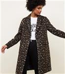 پالتو زنانه نیولوک (انگلستان) Brauner langer Mantel mit Leopardenmuster