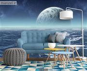 پوستر دیواری طرح دریا و ماه DA-2609