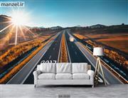 پوستر دیواری طرح طبیعت و جاده DA-2634