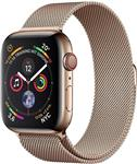 ساعت هوشمند اپل واچ آمریکا Apple Series 4 GPS -Cellular Edelstahlgehäuse mit Milanaise Armband 44mm Watch Watch OS 5