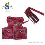 لباس آستین حلقه ای بهمراه لید مناسب خرگوش ، سگ و گربه داگی دالی مدل (DCL045) سایز (S)