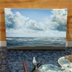 تابلو نقاشی طبیعت شمال – دریای خزر