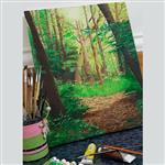 تابلوی نقاشی طبیعت شمال ایران – جنگل لاویج – گیلان