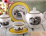 Zarrin Porcelain سرویس غذاخوری 102 پارچه چینی زرین ایران سری ایتالیا اف مدل Village درجه عالی