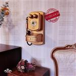 تکنیکال تلفن دیواری نوژان کشو دار کوچک طلایی خش  TELEWAL-SMALL-GOLDWASH