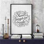 تابلو سالی وود طرح هرگز لبخند را فراموش نکن کد T200313