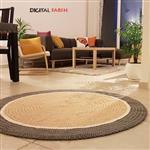فرش دایره ای دستبافت مدرن راگ ایران طرح 1830