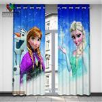 پرده ساتن Guzel مدل فروزن Frozen سه بعدی 3D
