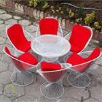 میز و صندلی باغی مدل بامبو