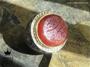 انگشتر نقره عقیق یمن و برلیان کلکسیونی بی نظیر مردانه دست ساز - کد 46765
