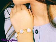 دستبند زنانه استیل نگین دار کد DZ 1006