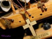 نیم ست استیل طرح صلیب کد N 8029