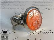 انگشتر نقره عقیق یمن حکاکی سبحان الله مردانه - کد 43318