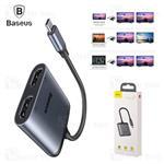 کابل تبدیل پورت Type-C به HDMI و Type-C بیسوس Baseus USB-C to 2x HDMI and USB-C PD CAHUB-I0G...