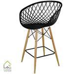 صندلی اپن پایه چوبی سوپر راش