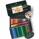 مداد رنگی ۱۲۰ رنگ پلی کروم فابرکاستل جعبه فلزی