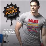 تی شرت کتان آستین کوتاه یقه گرد مدل B294 پلیس POLICE BODY SIZE