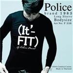 تی شرت کتان آستین بلند یقه گرد مدل F338 پلیس POLICE BODY SIZE