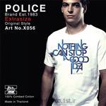 تی شرت کتان آستین کوتاه یقه گرد مدل X056 پلیس POLICE BODY SIZE