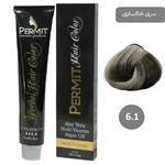 رنگ مو پرمیت سری خاکستری مدل بلوند خاکستری تیره شماره 6.1 PERMIT Hair Color