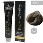 رنگ مو پرمیت سری دودی مدل بلوند دودی تیره شماره 6.2 PERMIT Hair Color