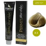 رنگ مو پرمیت سری زیتونی مدل بلوند زیتونی روشن شماره 8.3 PERMIT Hair Color