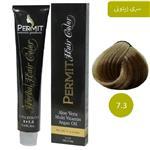 رنگ مو پرمیت سری زیتونی مدل بلوند زیتونی شماره 7.3 PERMIT Hair Color