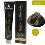 رنگ مو پرمیت سری زیتونی مدل قهوه ای زیتونی روشن شماره 5.3 PERMIT Hair Color