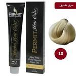 رنگ مو پرمیت سری طبیعی مدل بلوند خیلی خیلی روشن شماره 10 PERMIT Hair Color