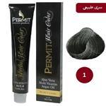 رنگ مو پرمیت سری طبیعی مدل مشکی شماره 1 PERMIT Hair Color