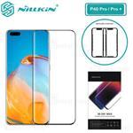 محافظ صفحه شیشه ای تمام صفحه تمام چسب نیلکین Huawei P40 Pro / P40 Pro Plus Nillkin 3D DS+ Max...
