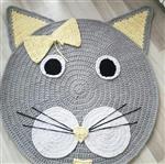 فرشینه تریکو مدل گربه  مهرابافت