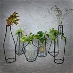 گلدان رومیزی فلزی انزو