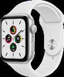 ساعت هوشمند اپل واچ سری SE مدل 44 میلی متری با بند سفید و بدنه آلومینیومی نقره ای