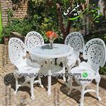 صندلی و میز پلاستیکی پلیمری طاووسی