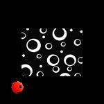 ماوس پد  Wormمدل Black and white circle