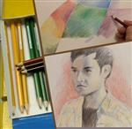 فیلم آموزشی نقاشی از چهره با مداد رنگی